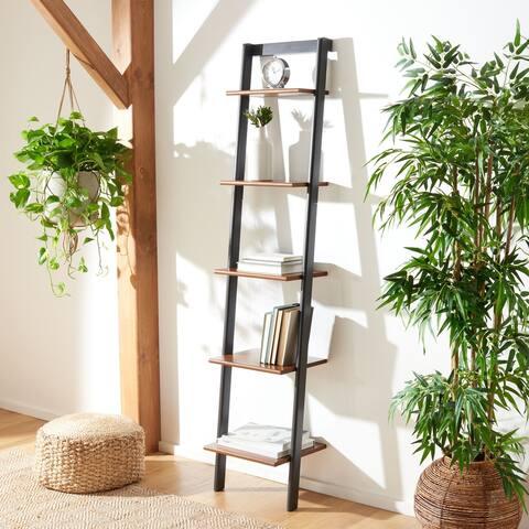 "Safavieh Allaire 5-Tier Leaning Etagere Bookcase - 16.9"" W x 14"" L x 76"" H"