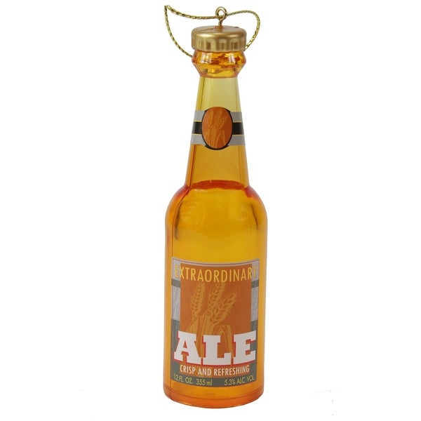 "4.25"" Decorative Bottle of Beer ""Extraordinary Ale"" Christmas Ornament"