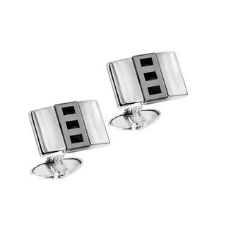 Dolan Bullock Men's Hematite & Onyx Cufflinks in Sterling Silver - Black