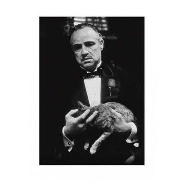 ''The Godfather (Brando & Cat)'' by Anon Movie & TV Posters Art Print (32 x 24 in.)