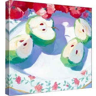 "PTM Images 9-97705  PTM Canvas Collection 12"" x 12"" - ""Fruit Platter II"" Giclee Apples Art Print on Canvas"