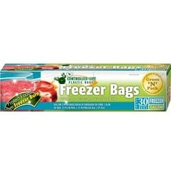 Green'N'Pack 30 Count Zipper Freezer Bags