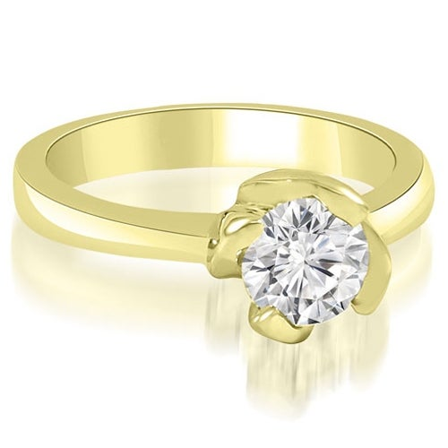 1.00 cttw. 14K Yellow Gold Twisted Prong Solitaire Diamond Engagement Ring