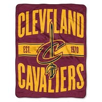 Cleveland Cavaliers Blanket 46x60 Micro Raschel Clear Out Design Rolled