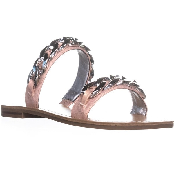 G by Guess Tunez Double Strap Flat Sandals, Light Pink