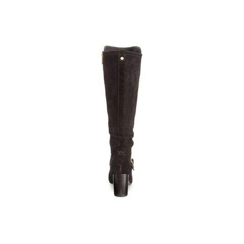 Lucca Lane Womens Paris Leather Almond Toe Knee High Fashion Boots