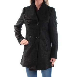 Womens Black Casual Peacoat Coat Size XS