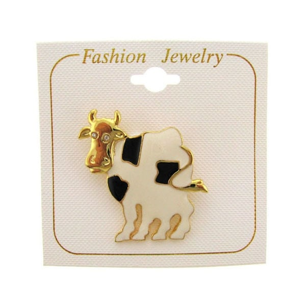 Ddi Goldtone Epoxy Cow Pin (pack Of 60)