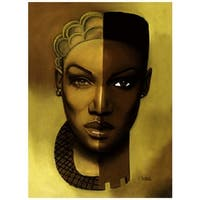''Timeless (Female)'' by Laurie Cooper African American Art Print (27 x 20 in.)