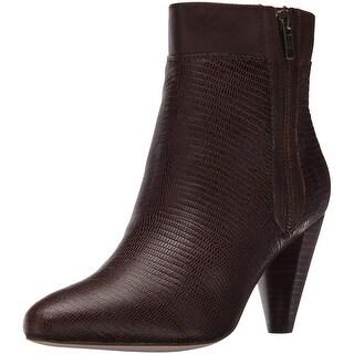 Corso Como Women's Autumn Ankle Bootie - brown lizard - 7.5