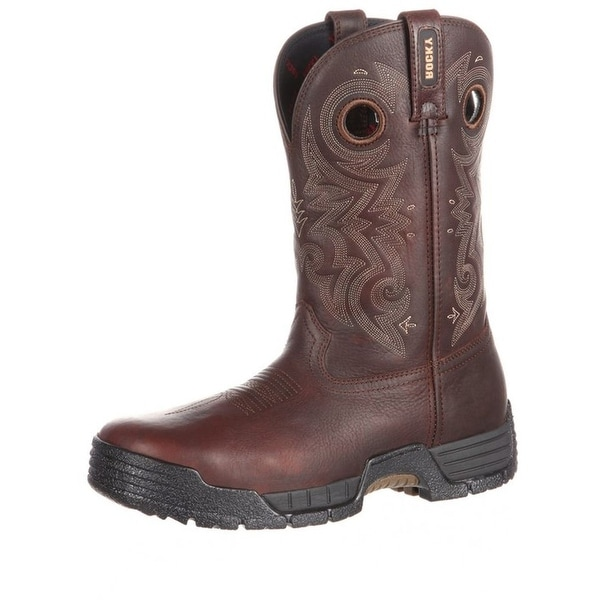 Rocky Western Boots Mens Mobilite Composite Waterproof Brown