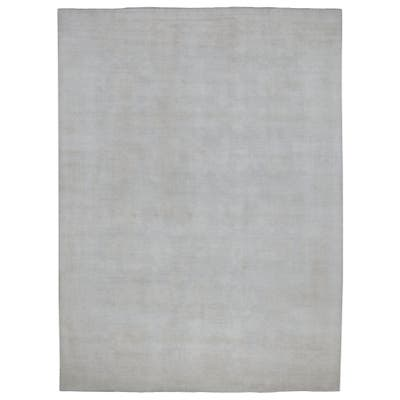 "Shahbanu Rugs Stone Wash Peshawar Natural Wool Hand Knotted Oriental Rug (9'9"" x 13'5"") - 9'9"" x 13'5"""