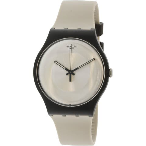 Swatch Avenida Black Silicone Swiss Quartz Fashion Watch