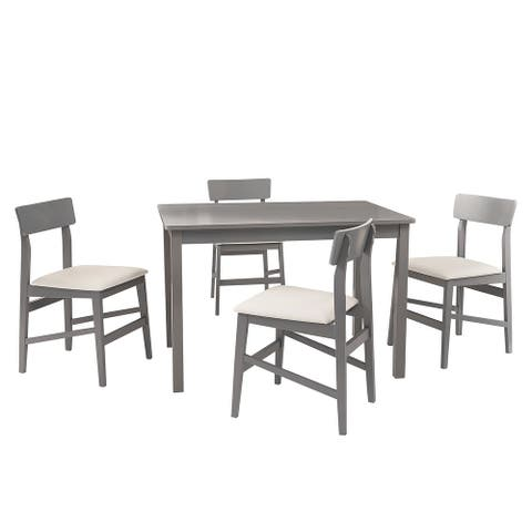 Nori 5 Piece Set, Dining Table W/ 4 Chairs