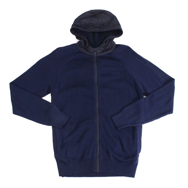 Barbour Mens Sweater Navy Blue Size XL Zip Front Rampside Hooded. Opens flyout.