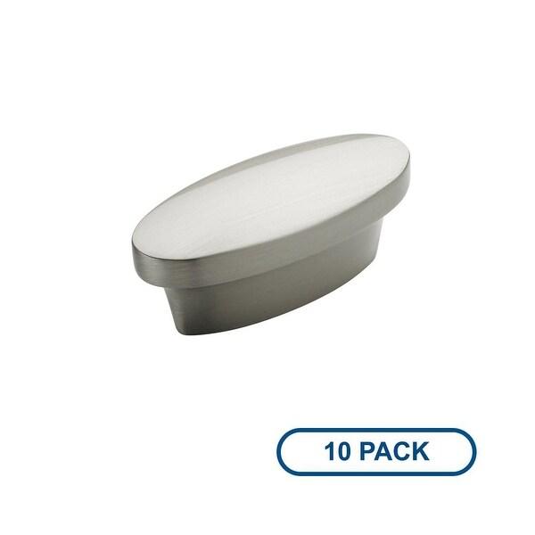 Amerock BP53016-10PACK Allison Value Hardware 1-3/4 Inch Long Oval Cabinet Knob - Package of 10