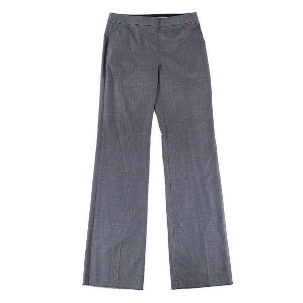 Max Mara NEW Blue White Women's Size 10 Wide Leg Wool Dress Pants