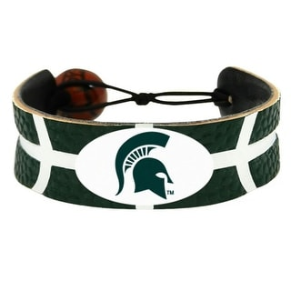 Michigan State Spartans Team Color NCAA Gamewear Leather Basketball Bracelet