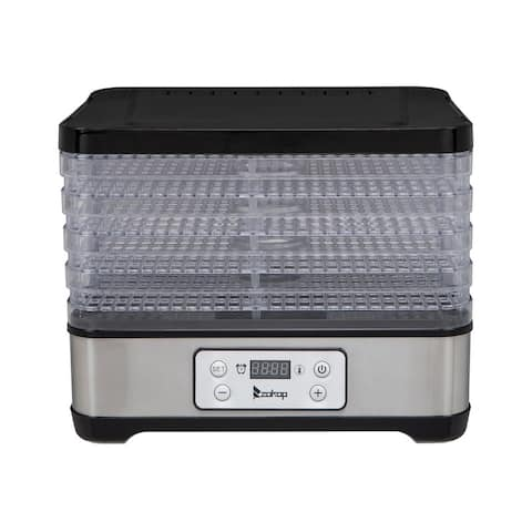 ZOKOP Food Dehydrator with Temperature Time Adjustable