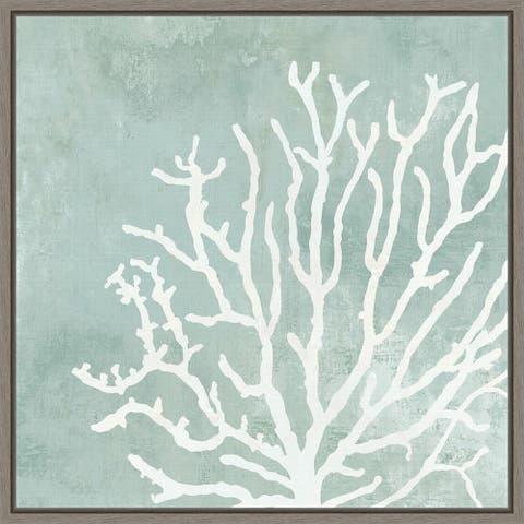 Sea Crown II (Coral) by Aimee Wilson Framed Canvas Art