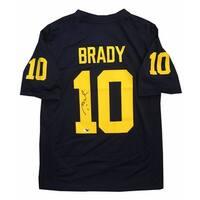 Tom Brady Autographed Michigan Wolverines Signed Nike Football Jersey TRISTAR COA