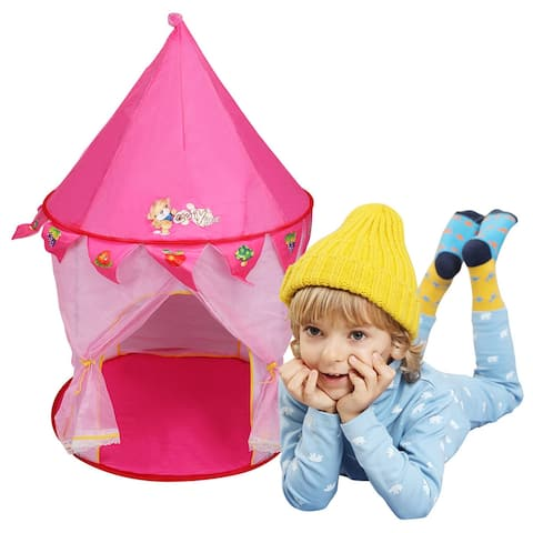 Costway Kids Baby Play Tent House Princess Castle In/Outdoor Portable