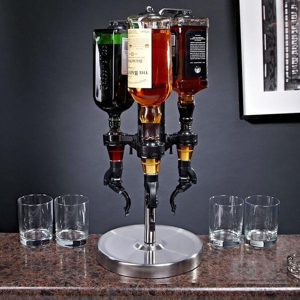 3-Bottle Revolving Liquor Dispenser. Opens flyout.