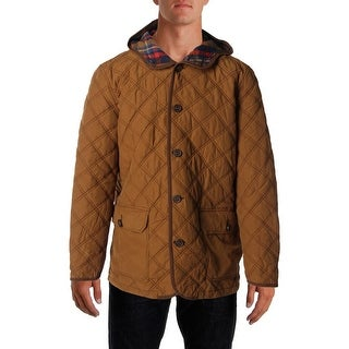 Tommy Hilfiger Mens Quilted Hooded Coat - L