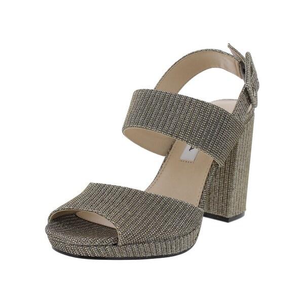 Nina Womens Athena Dress Sandals Metallic Open Toe