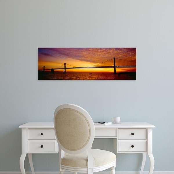 Easy Art Prints Panoramic Images's 'Bay Bridge at Sunrise, San Francisco, California' Premium Canvas Art