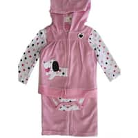 Buster Brown Baby Girls Pink Dot Bodysuit Dog Applique Vest 3 Pc Pants Set 12-24M