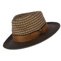 Kenny K Men's Two Tone Fedora with Grosgrain Band