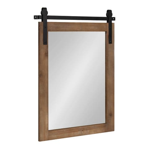 Kate and Laurel Cates Rustic Wall Mirror
