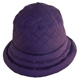 Dorfman Pacific Women's Nylon Quilted Waterproof Rain Hat - One Size