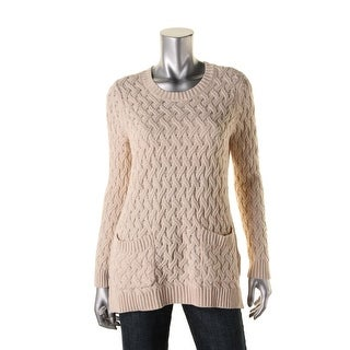 Jeanne Pierre Womens Cable Knit Long Sleeves Tunic Sweater