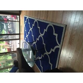 nuLOOM Handmade Luna Moroccan Trellis Rug (6' x 9')