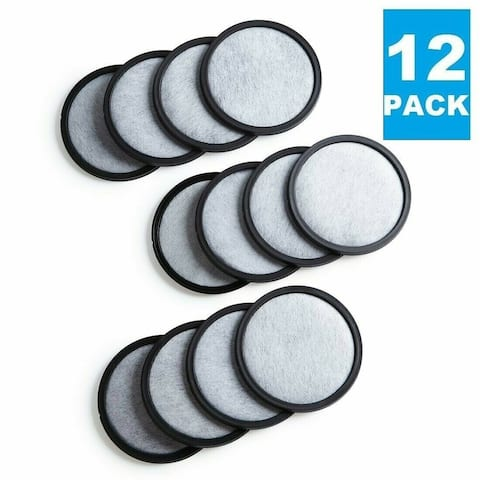 Premium Replacement Charcoal Water Filter Disks for All Mr. Coffee Makers & Machines, Replaces Mr Carbon Filter Disc - 12 Pack