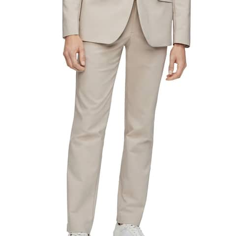 Calvin Klein Mens Chino Pants Beige Size 38x32 Move-365 Slim Fit Stretch