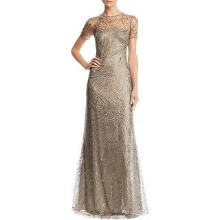 Link to Tadashi Shoji Womens Evening Dress Lace Sequined Similar Items in Dresses