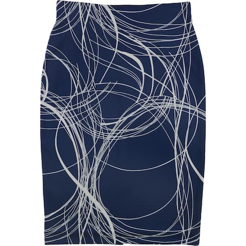 Alfani Womens Swirl Pencil Skirt