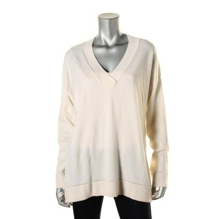Vince Womens Cashmere V-Neck Pullover Sweater