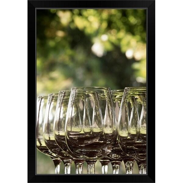 """""""Empty wine glasses"""" Black Framed Print"""