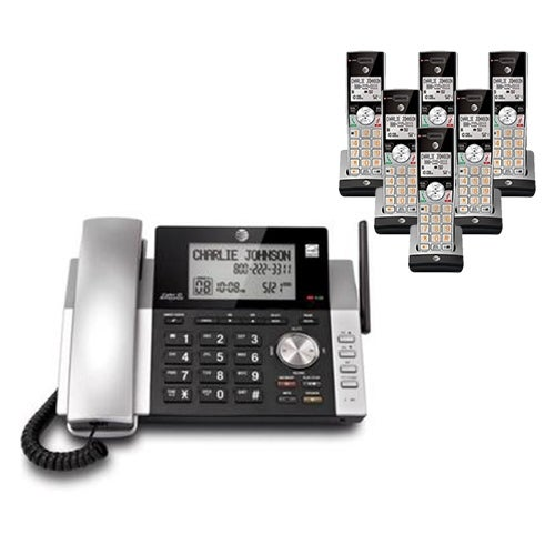 """AT&T CL84215 plus (4) CL80115 Corded / Cordless Phone"""