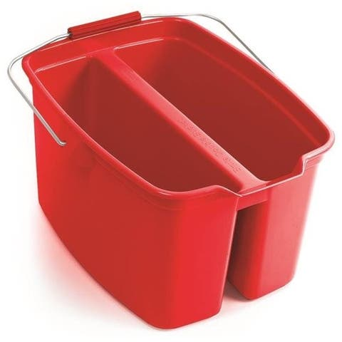 Rubbermaid 1887094 Plastic Double Bucket, 19 Quart Capacity, Red