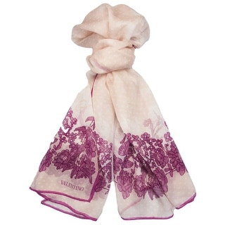 Valentino VS7020 6796 Col.4 Pink Floral Silk Ladies Scarves