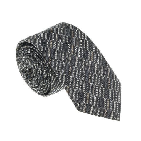 Missoni U5518 Gray/Silver Graphic Silk Tie - 60-3