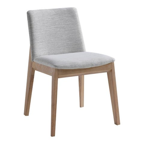 Aurelle Home Derek Modern Solid White Oak Dining Chairs (Set of 2)