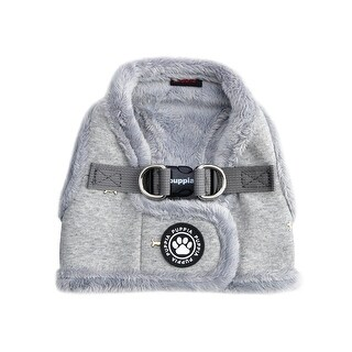 Gia Vest Style Dog Harness By Puppia - Grey - X-Large