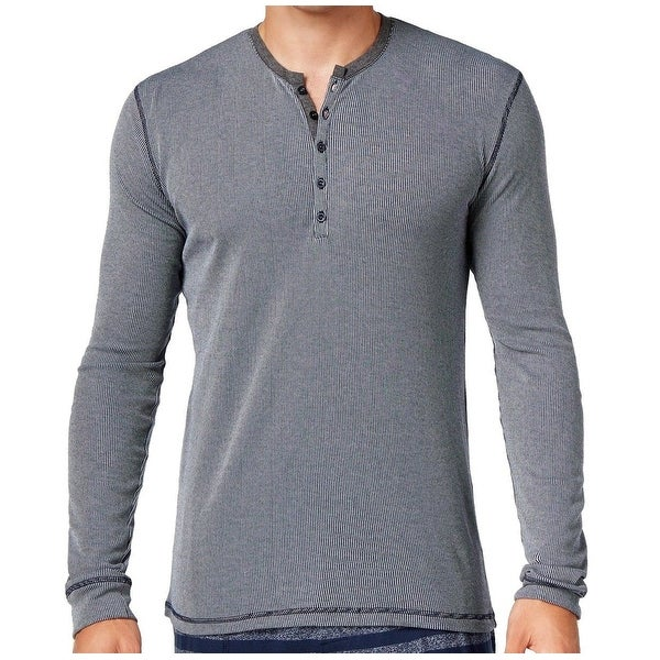 c9ba92277f Shop Kenneth Cole Reaction NEW Blue Mens Size Large L Henley Sleep Shirt -  Free Shipping On Orders Over  45 - Overstock.com - 19854308