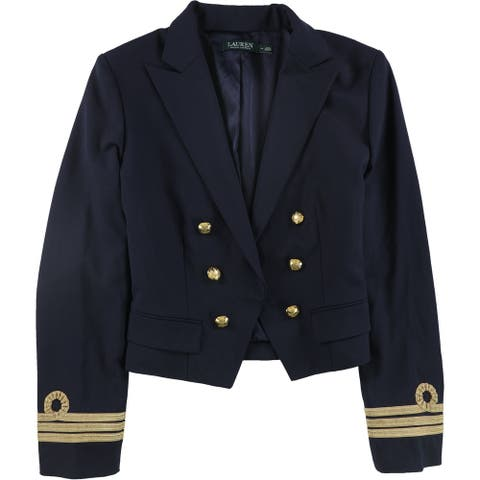 Ralph Lauren Womens Military Aviator Jacket, Blue, 14